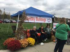 Board member Mrs Baudry, and Cheryl Blosser and Marla Cobb from Barhitte. Amy Gussie and Patricia Camp were also there to support the Bulldogs.