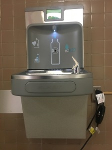 Bentley Middle School receives two new water fountains